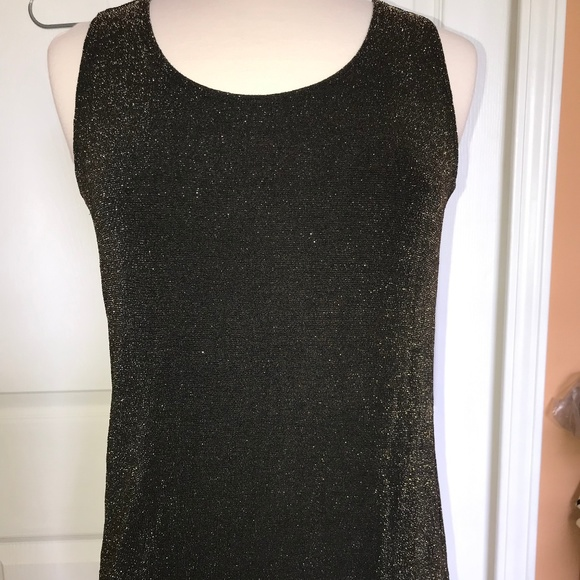 Chico's Tops - Chico's Travelers tank top gold sparkle 2 like new